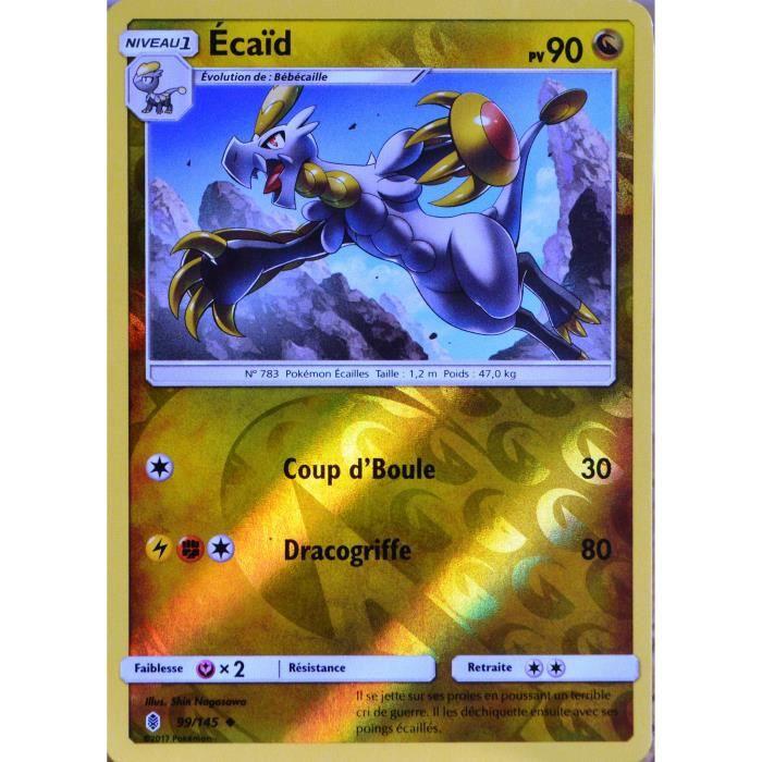 ☺ Carte Pokémon Écaïd REVERSE 99//145 VF NEUVE SL2 Gardiens Ascendants