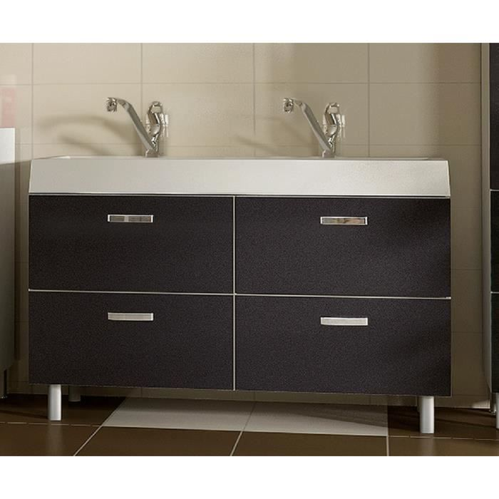 lavabo double vasque salle bain evo metal 120 cm achat vente lavabo vasque lavabo double. Black Bedroom Furniture Sets. Home Design Ideas