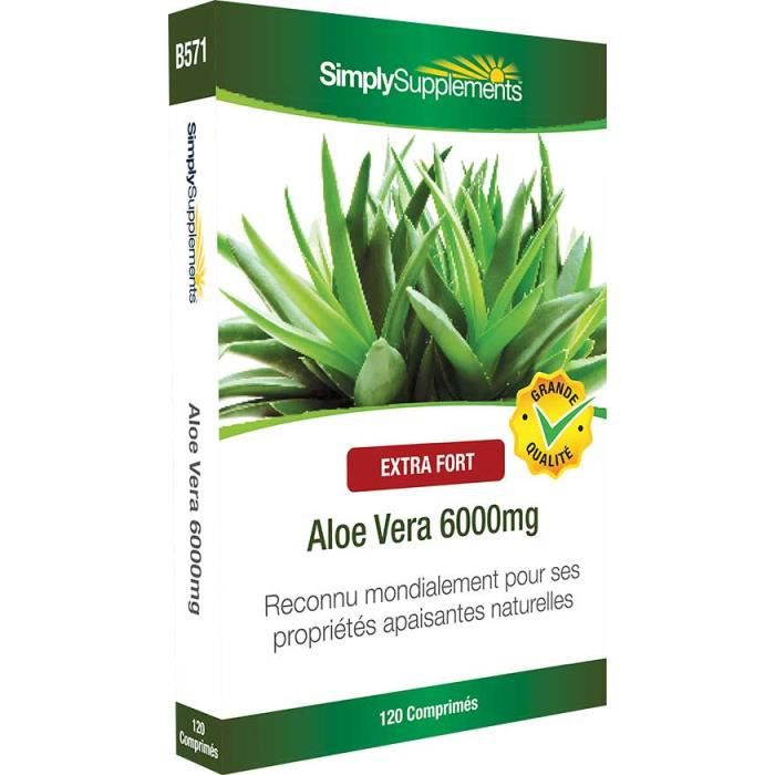 aloe vera 6000mg 120 comprim s achat vente digestion transit aloe vera 6000mg 120 comp. Black Bedroom Furniture Sets. Home Design Ideas