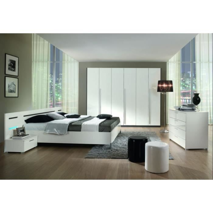 Chambre coucher moderne 180x200 tania meuble house for Achat chambre a coucher