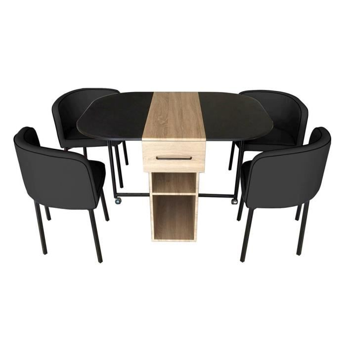 ensemble table 4 chaises laura achat vente table a manger complet ensemble table 4. Black Bedroom Furniture Sets. Home Design Ideas