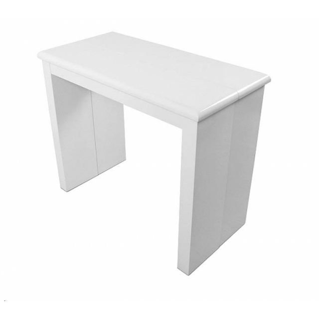 Table console extensible kelly blanc laquee achat for Table a manger modulable