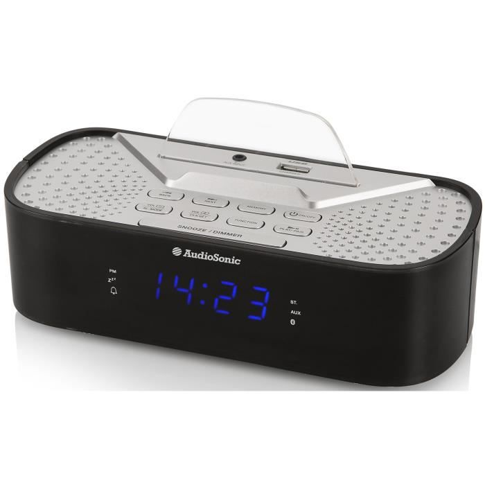 35adad914e348e AUDIOSONIC CL-1463 Radio Réveil Bluetooth - Port de chargement USB ...