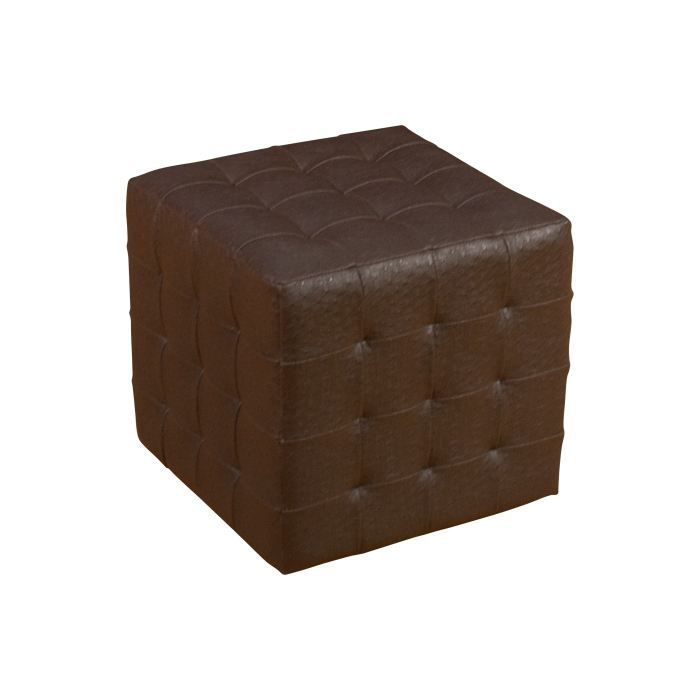 pouf carre aspect autruche marron achat vente pouf poire soldes d t cdiscount. Black Bedroom Furniture Sets. Home Design Ideas