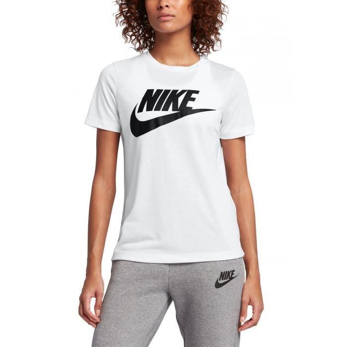 t shirt femme nike blanc