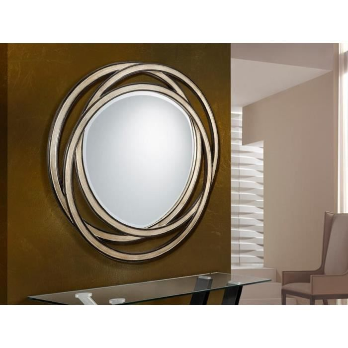miroir original design rond aros deco schuller achat vente miroir cdiscount. Black Bedroom Furniture Sets. Home Design Ideas