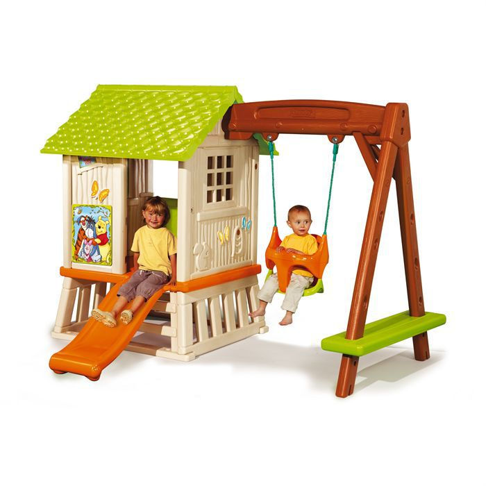 Balancoire portique winnie l 39 ourson maison foresti re for Balancoire pour jardin