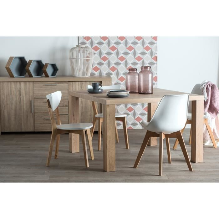wild table manger carr e de 4 8 personnes scandinave placage fr ne l 120 x l 120 cm. Black Bedroom Furniture Sets. Home Design Ideas