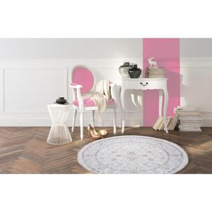 tapis rond rose achat vente tapis rond rose pas cher black friday le 24 11 cdiscount. Black Bedroom Furniture Sets. Home Design Ideas