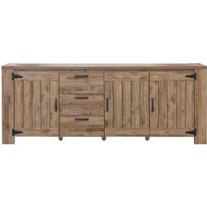 BUFFET - BAHUT  CAMPAGNE Enfilade classique décor ton bois - L 219