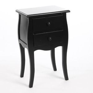 Table de chevet achat vente table de chevet pas cher - Table de chevet noir ...
