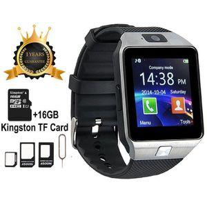 VITRE MONTRE CONNECTÉE Smartwatch Montre Connectée Phone DZ09 support de
