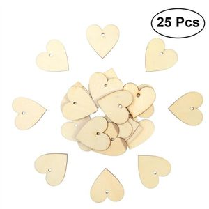 """100 pcs en bois Love Coeur Table De Mariage Scatter Decor À faire soi-même Craft Tranches 1/"""" X 1.1/"""""""