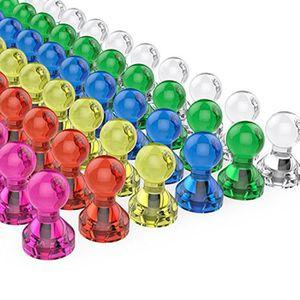 AIMANTS - MAGNETS 60 Pack assortiment de couleur forte aimants magné