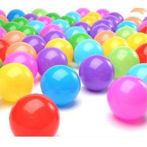 BALLE - BOULE - BALLON 50x Balles Colorées Piscine Balles Plastique Color