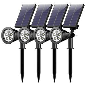 LAMPE DE JARDIN  Ototon® 4 Pcs Led Lampe Spot Solaire d'extérieur 2