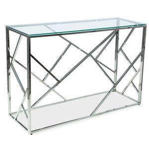 CONSOLE Console en verre L : 120 cm x P : 40 cm x H : 78 c