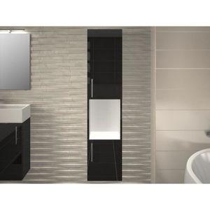 COLONNE - ARMOIRE SDB Colonne de salle de bain 2 portes grise LEA - L 30