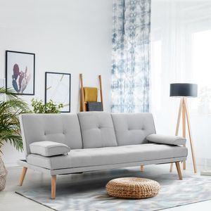 CANAPÉ - SOFA - DIVAN Canapé convertible 3 places design scandinave incl