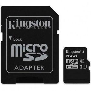 CARTE MÉMOIRE Micro SD CARD HC 16Go -C10 KINGSTON AVEC ADAPTATEU