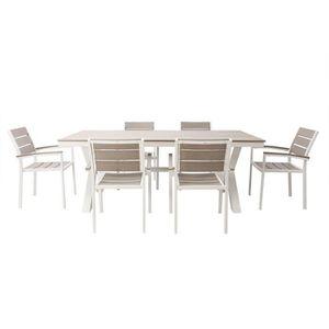 SALON DE JARDIN  Miliboo - Salon de jardin avec table et 6 chaises