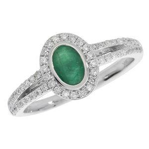 BAGUE - ANNEAU Bague Femme Pavage Or Blanc 375-1000 et Diamant Br