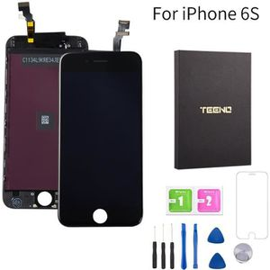 ECRAN DE TÉLÉPHONE Ecran iPhone 6S Noir  TEENO + Outils + Verre Tremp