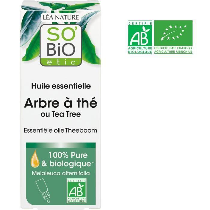 HUILE - LAIT MASSAGE SOBIO Huile essentielle arbre à thé - Bio - 15 ml