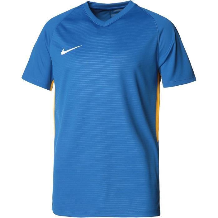 NIKE Maillot de football Dri-FIT Tiempo Premier - Homme - Bleu royal et blanc