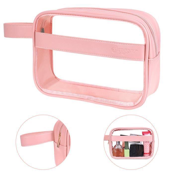 Paperkiddo trousse de maquillage cosmétique transparent etanche multifonction trousse de toilette de voyage