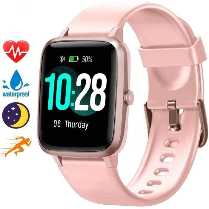 Blackview Montre Connectée Homme Femmes Smartwatch étanche Smart Watch Toute la journée fréquence Cardiaque et Suivi d'activité, Fit