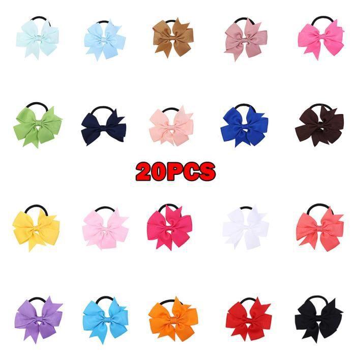 Soins bébé20pcs pinces à cheveux filles bonbons couleur arc boucle de cheveux bowknot coiffure en épingle à cheveux LZM91025239_sim