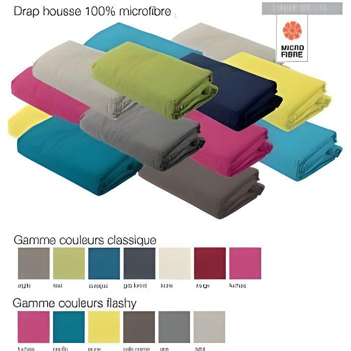 DRAP HOUSSE MICROFIBRE 160X200 CM GRIS FONCE