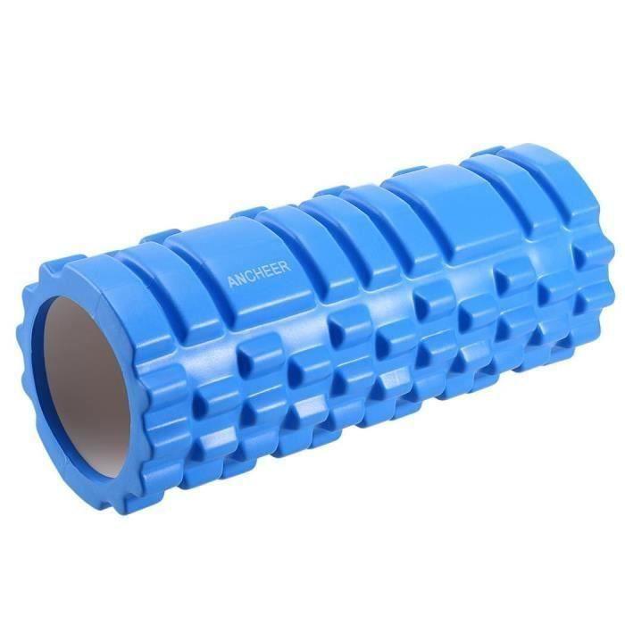Rouleau de mousse de yoga pour le massage Bleu la11978