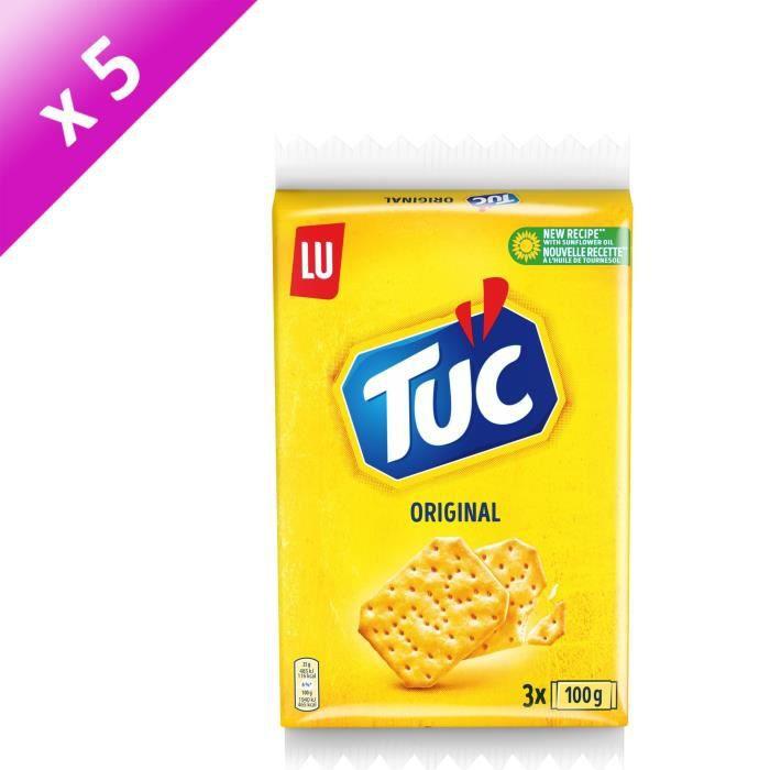 [LOT DE 5] Tuc Original Triopack 3x100g
