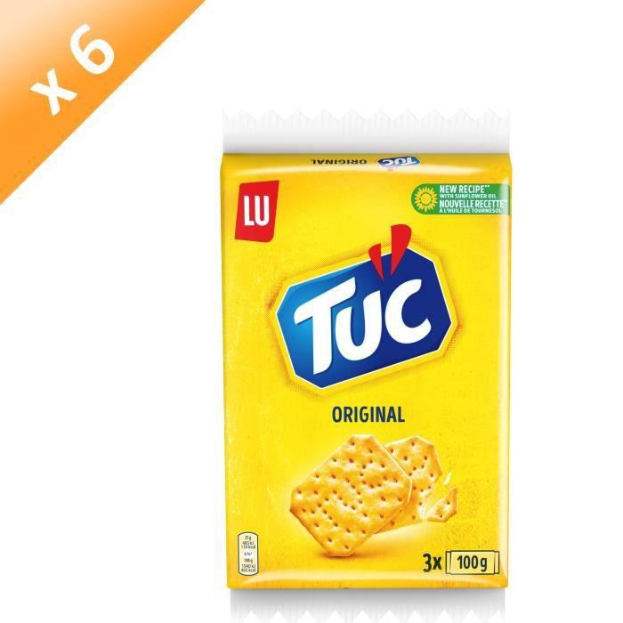 [LOT DE 6] Tuc Original Triopack 3x100g