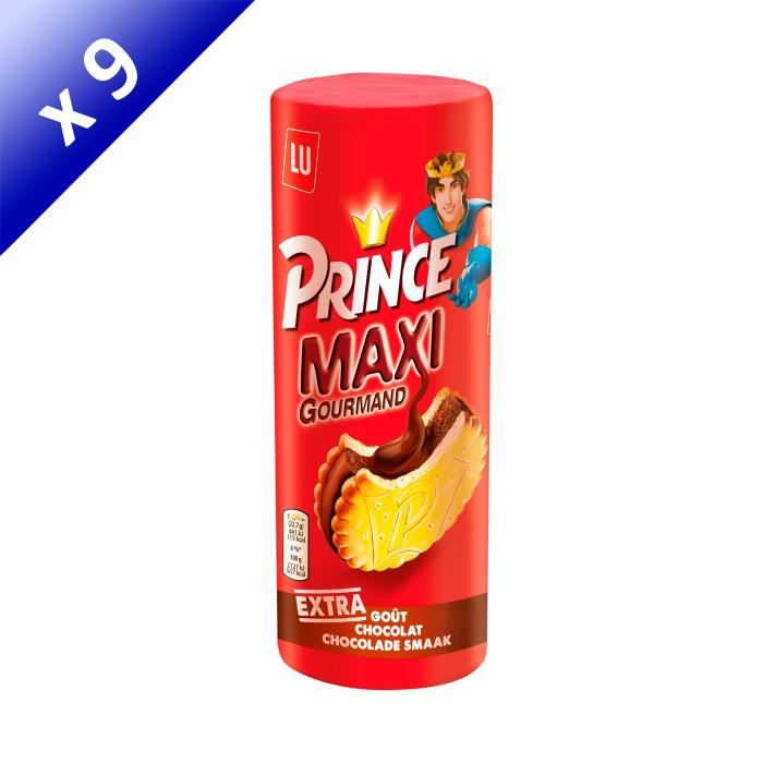 [LOT DE 9] Prince Maxi biscuits chocolat 250g