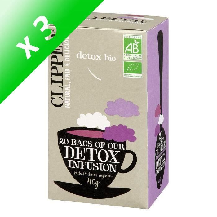 [LOT DE 3] CLIPPER Infusion Detox Bio 40g
