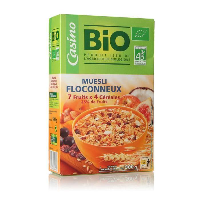 Muesli floconneux aux 7 fruits et 4 céréales - Bio - 500g