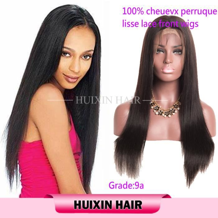 lace front wig perruque bresilienne femme lisse REMY 12pouces 100% cheveux naturelle humain 151% densité straight hair