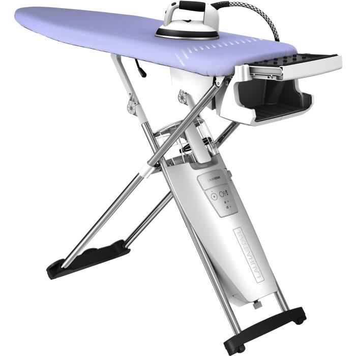 Laurastar S XTRA Centre de repassage - 000.0303.779 - Table active - Semelle active en 3D - Fer professionnel - Gris et violet