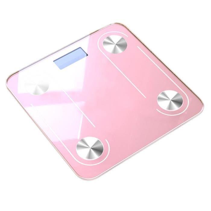 Graisse corporelle Balance science sol Intelligent Led électronique Poids numérique-or rose