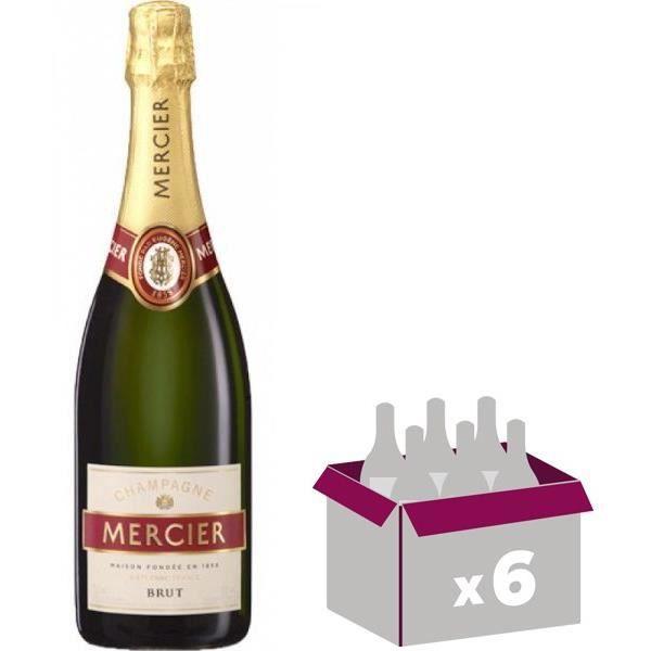 6x Mercier Brut classique - Champagne AOC