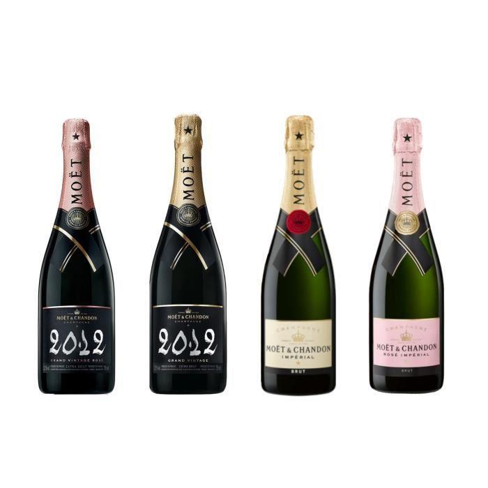 Lot découverte Moet & chandon Grand vintage - 4 bouteilles