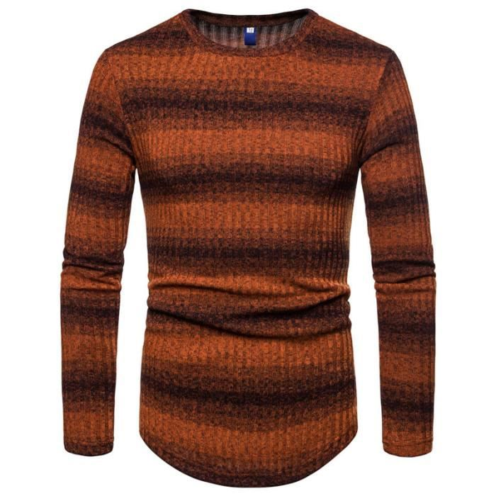 Pull hiver homme Pull à col XS