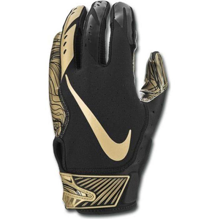 Gant de football américain Nike vapor Jet 5.0 pour receveur Noir gold