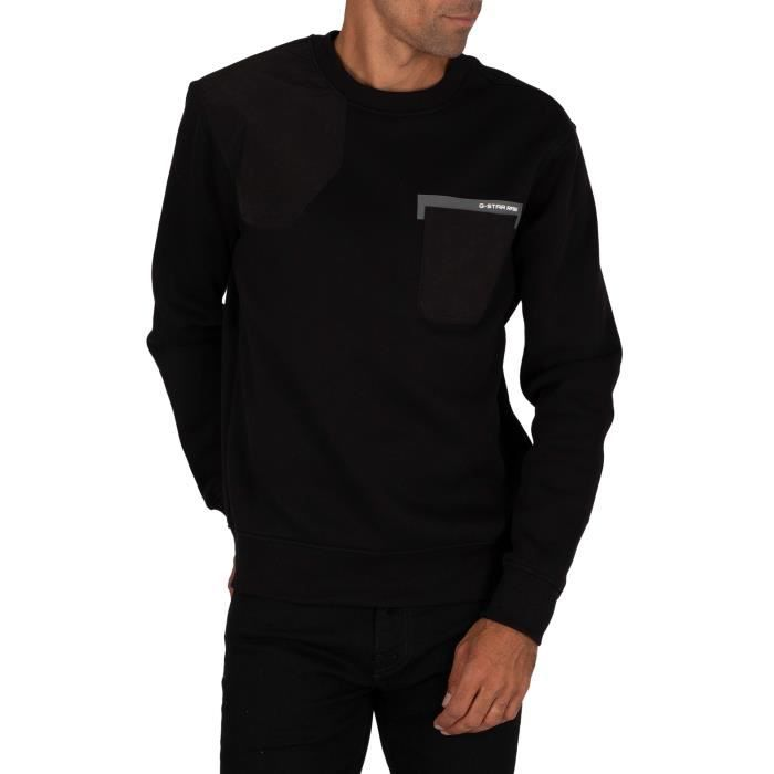 G-Star Sweatshirt Hunting Patch, Noir, Homme