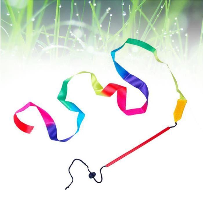 1pc GYM ruban coloré réglable gymnastique rythmique Art rubans danse accessoire avec bâton pour RUBAN DE GYMNASTIQUE RYTHMIQUE