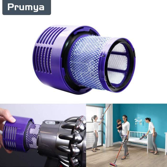 PRUMYA Aspirateur Élément Filtrant Filtre d'échappement Dyson V10, élément de filtre arrière