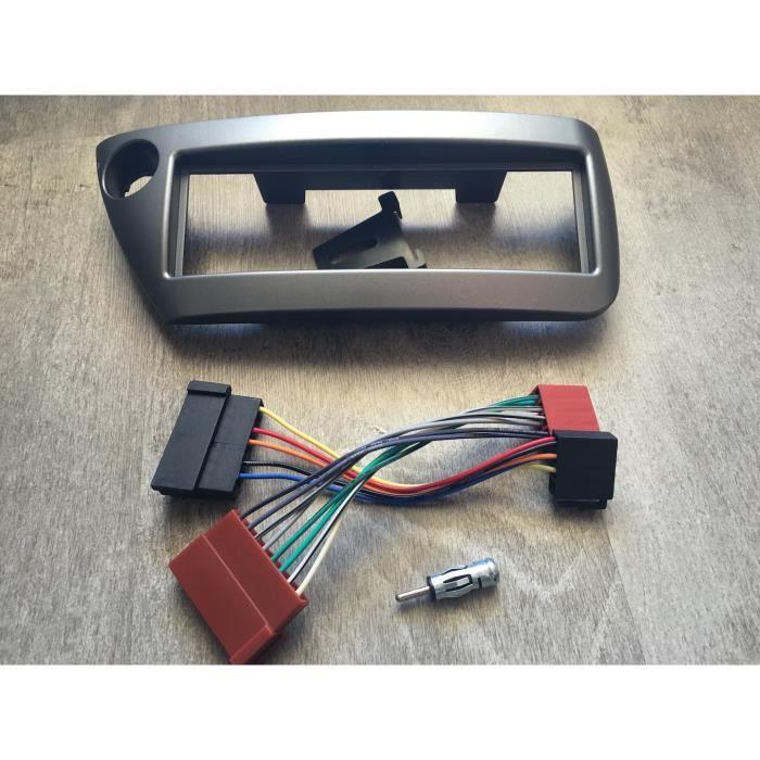 Couleur argent Kit adaptateurs autoradio cadre faisceaux pour Ford KA 1997